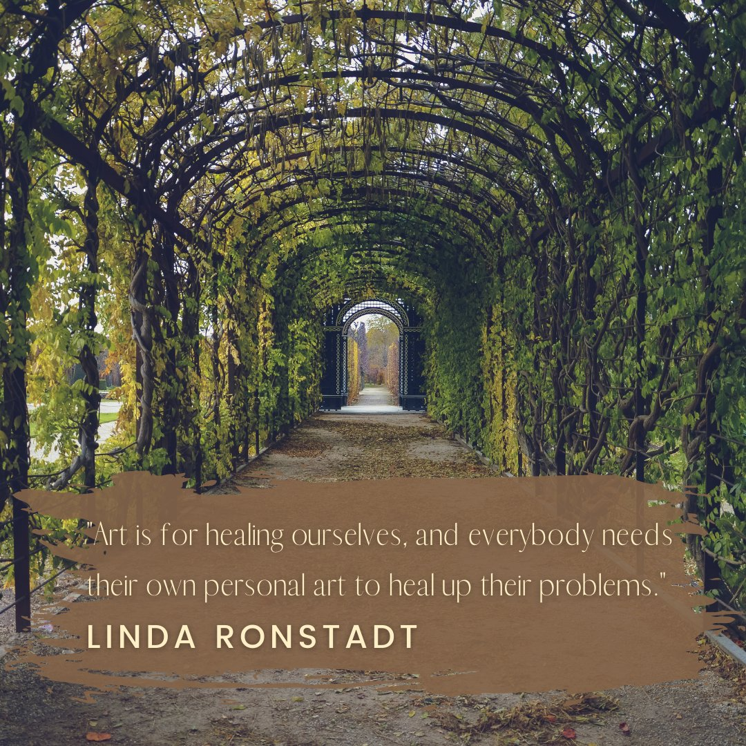 """Art is for healing ourselves, and everybody needs their own personal art to heal up their problems."" - Linda Ronstadt 🎤🎵  #Art #quote #music #singer #vocals #pop #LindaRonstadt #inspiration #healing #heal #problems #garden https://t.co/q0RR9obbXV"