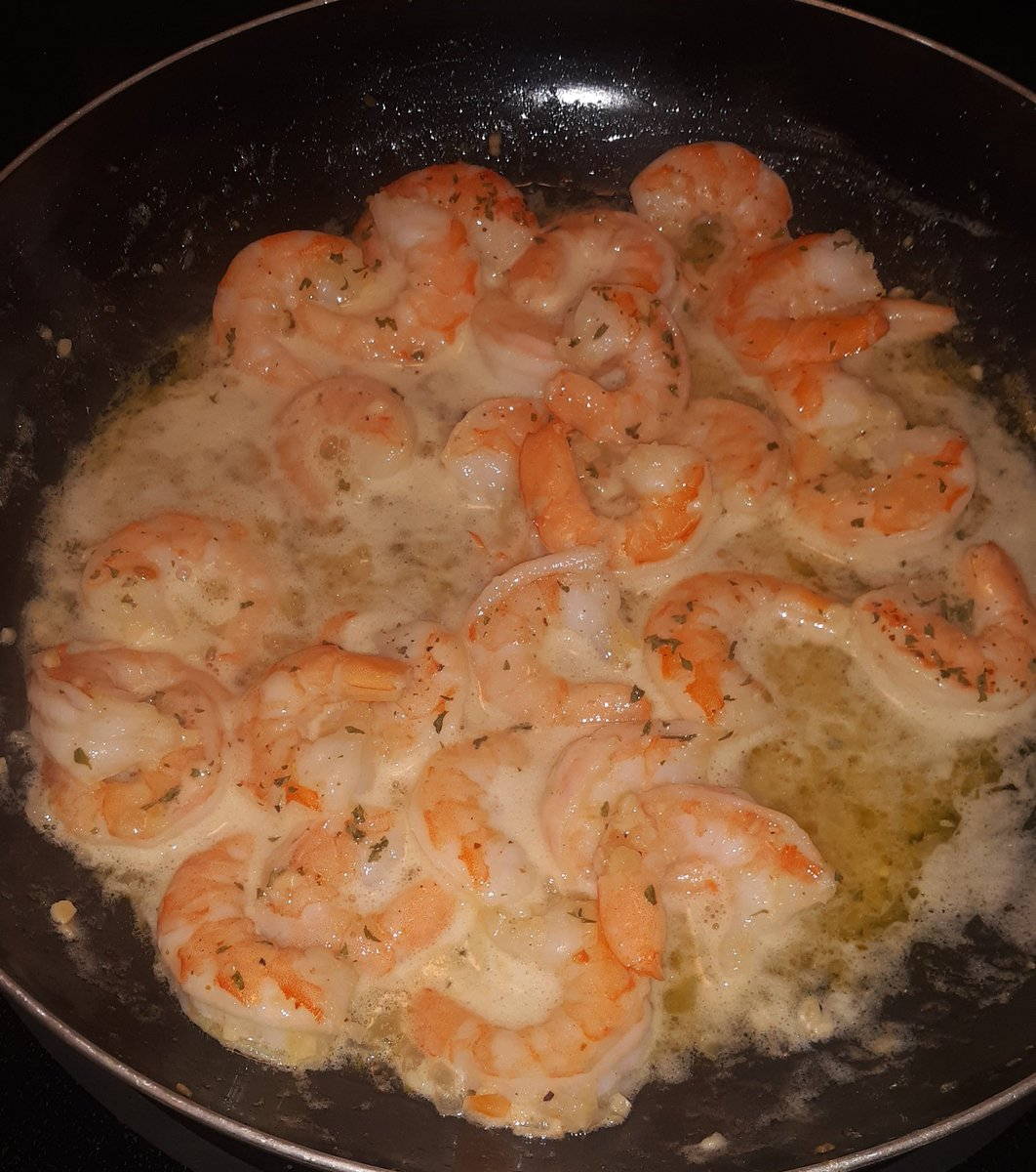 Celebratory #STARSWIN shrimp scampi tonight!!!! Go Dallas, #GOSTARS