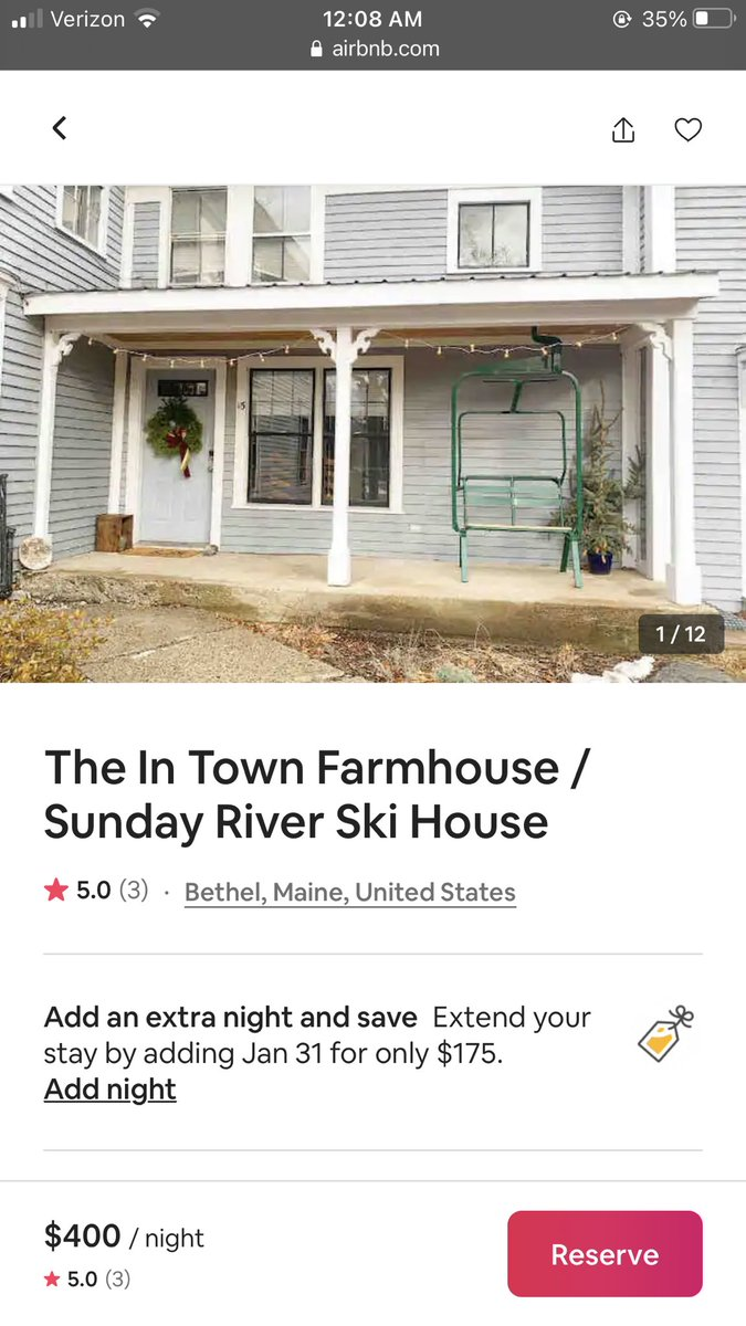 If you find yourself in Maine, DO NOT rent this Air bnb, we were here not even 5 hours and are being kicked out when we have not broken any of the rules. The only two 5 star reviews have been listed by friends. This is a scam #airbnb @Airbnb