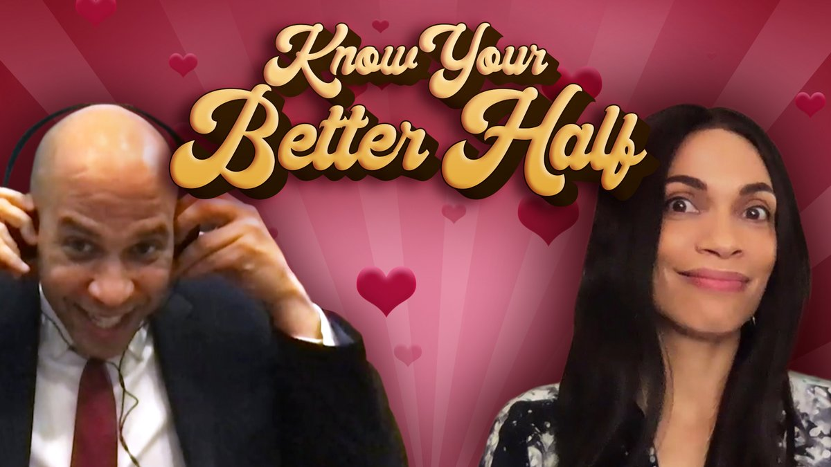 ❤️ Know Your Better Half w/ @RosarioDawson & @CoryBooker ❤️   Jimmy tests how well @RosarioDawson & @CoryBooker know each other! 🍕 #FallonTonight