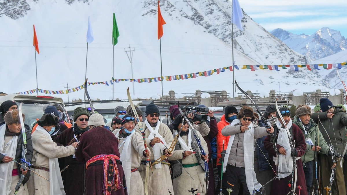 JULAY Zanskar! See you next year! Thank you Zanskar & people of Ladakh for the spectacular Khelo India Winter Sports Festival, Zanskar 2021. @NarendraModi Govt will always stand with our citizens living in difficult border areas.