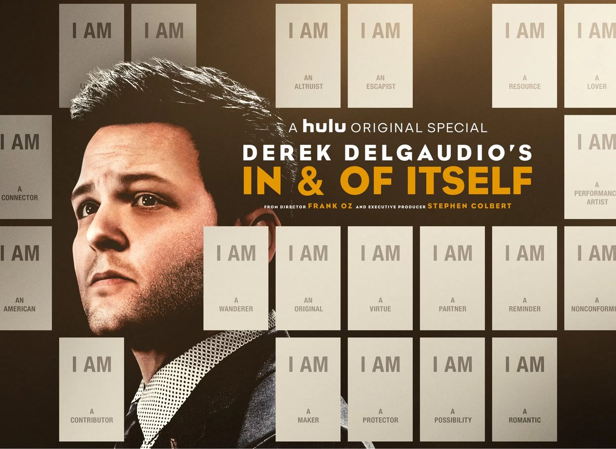 If you have ever been moved by magic, stop your world and watch @derek_del's brilliant In And Of Itself, now on @hulu. It's a master class in storytelling, a performance on a whole other level. Impeccably directed by @TheFrankOzJam. Super proud of all involved.
