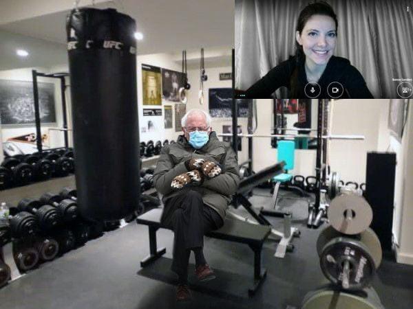 In case anyone is wondering how life as a virtual personal trainer is going in 2021.... 😜💪🏻#personaltrainer #personaltraining #health #fitness     #Berniememes #BernieSanders  #BernieSandersMittens