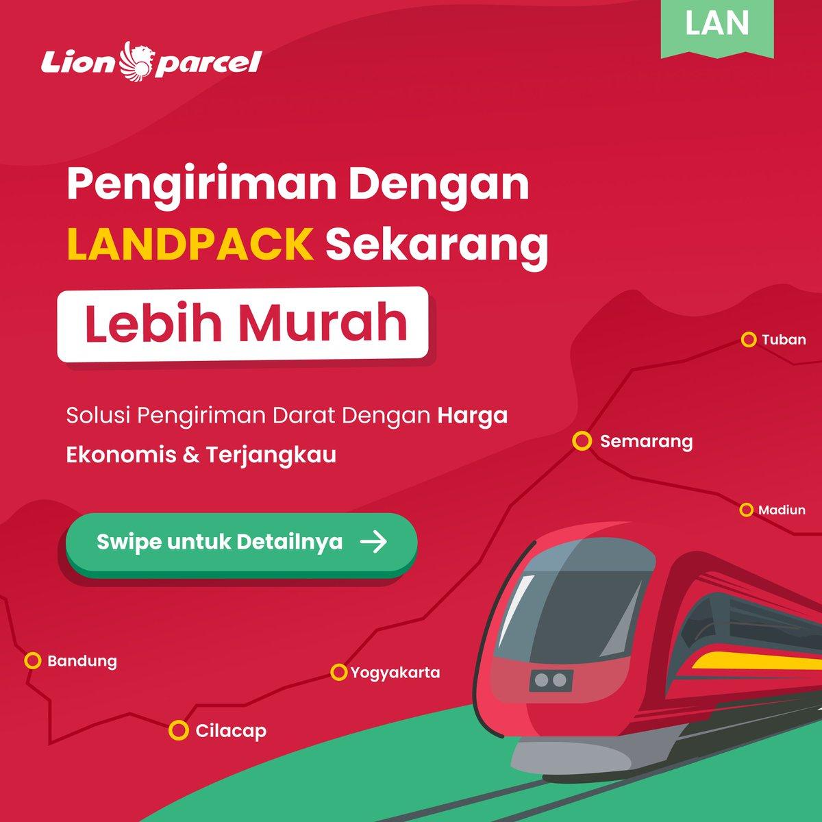 Kirim pakai layanan LANDPACK sekarang lebih murah!!! Cuslah yang mau kirim-kirim barang antar Pulau Jawa sekarang lebih murah, cepat dan pastinya aman!  Untuk harganya, cek di sini ya! 👉🏻 https://t.co/jBCIeXk4aR  #lionparcel #kirimkebaikan #kirimkankebaikan #landpack https://t.co/eVl2a25jP3