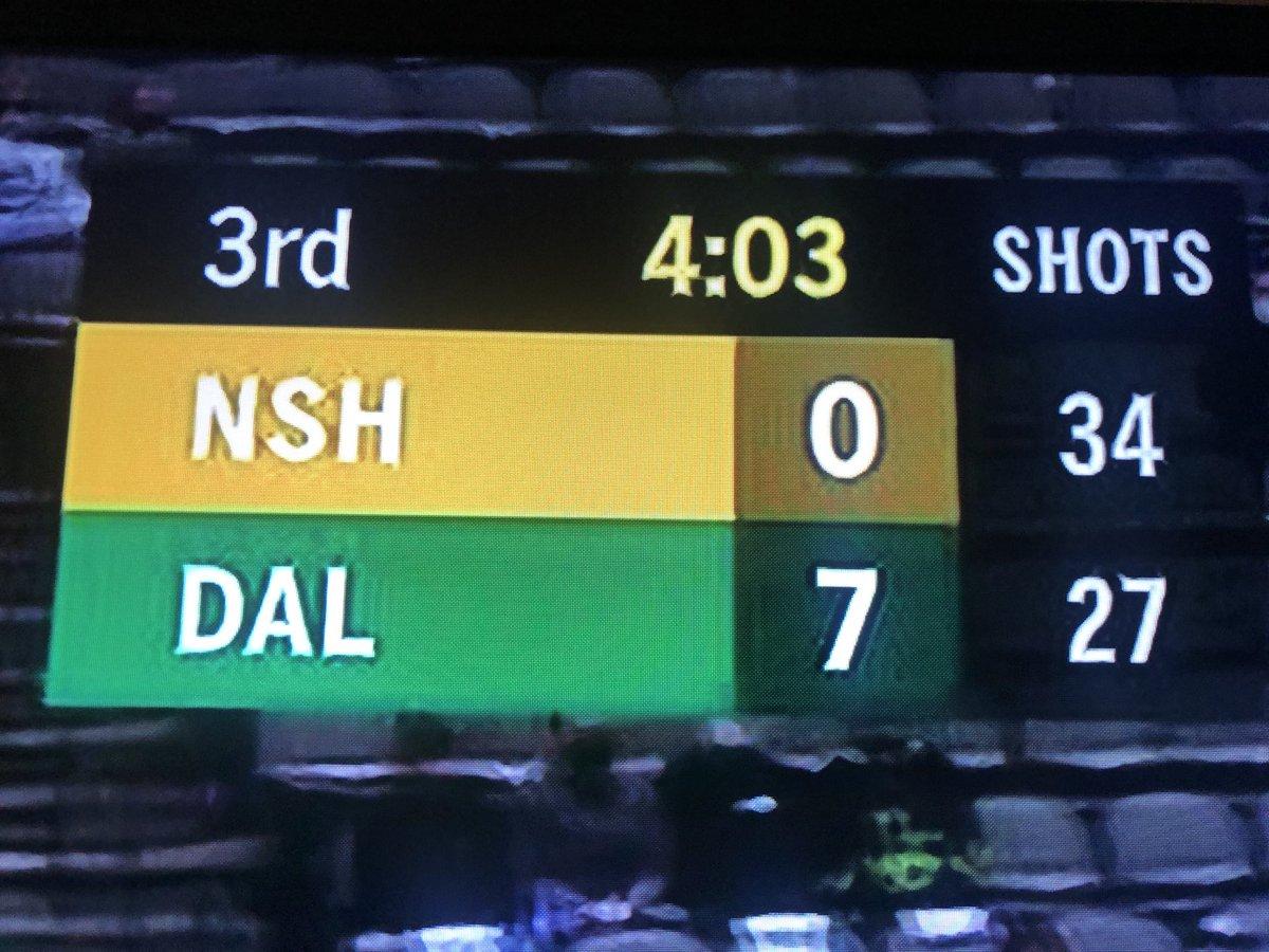 Stars shot fewer shots than the Preds and still won 7-0 🤣 #GoStars