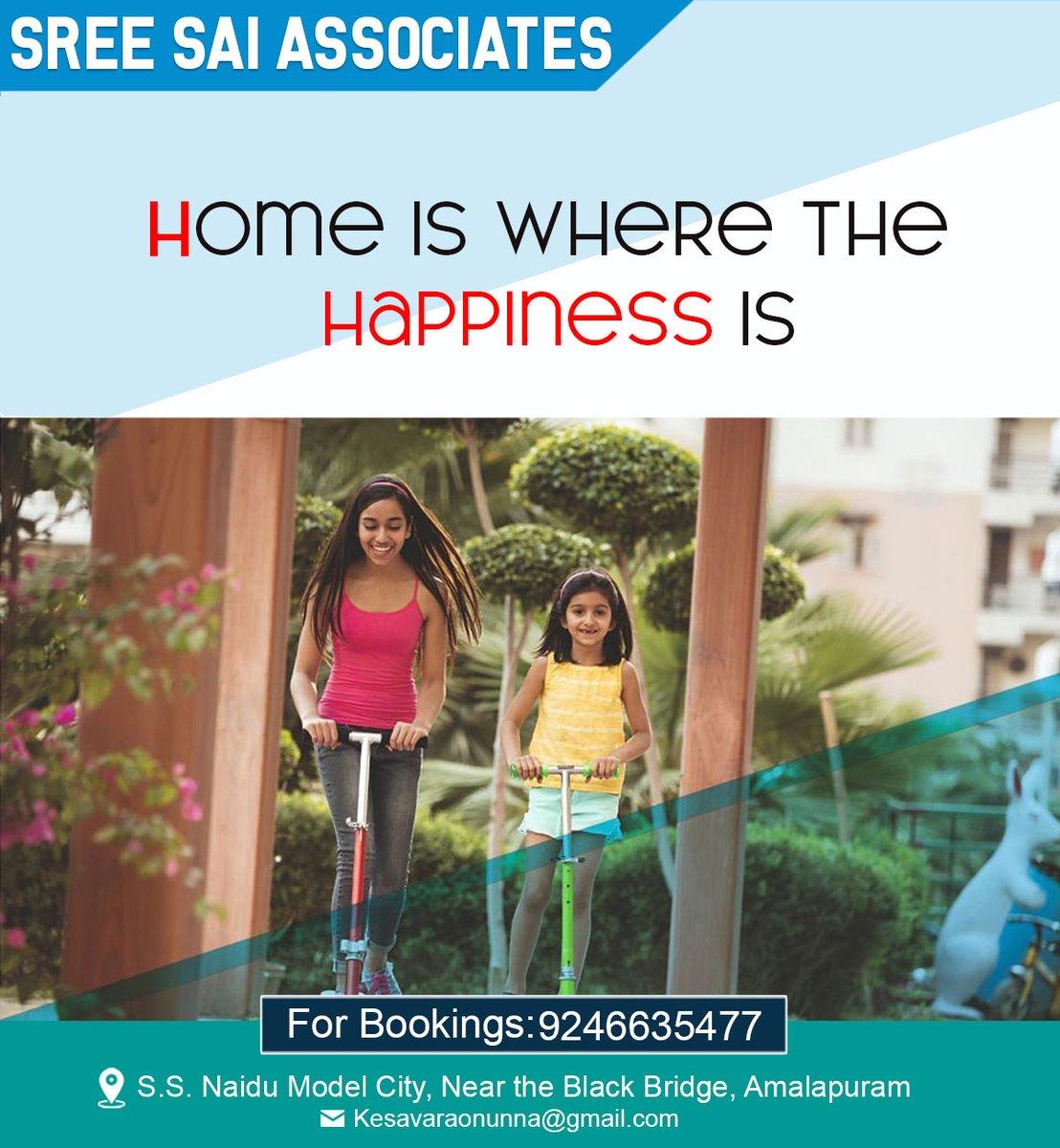 Home is where the Happiness Is #vastu #comfort #sreesaiassociates #amalapuram #eastgodavari #twintowers #apartments #associates #superspecifications #interiordesigning #structure #doors #windows #flooring #kitchen #wardrobes #toilets #electricals #plumbing #paints