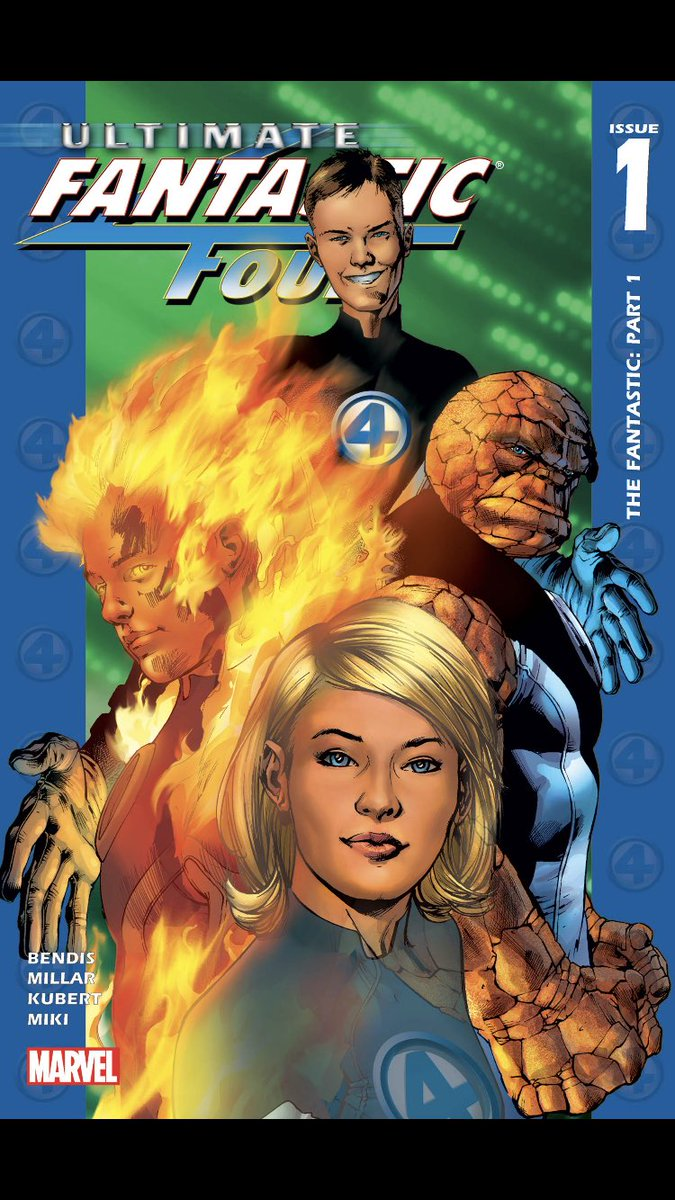 #comicbeforebed Ultimate Fantastic Four No. 1, December, 2003. Reed gets a swirly, Grimm steps in, and Reed makes a discovery. 🚽💪😲 #UltimateFantasticFour #MarvelComics #MarvelUnlimited #digitalcomics @Marvel @MarvelUnlimited