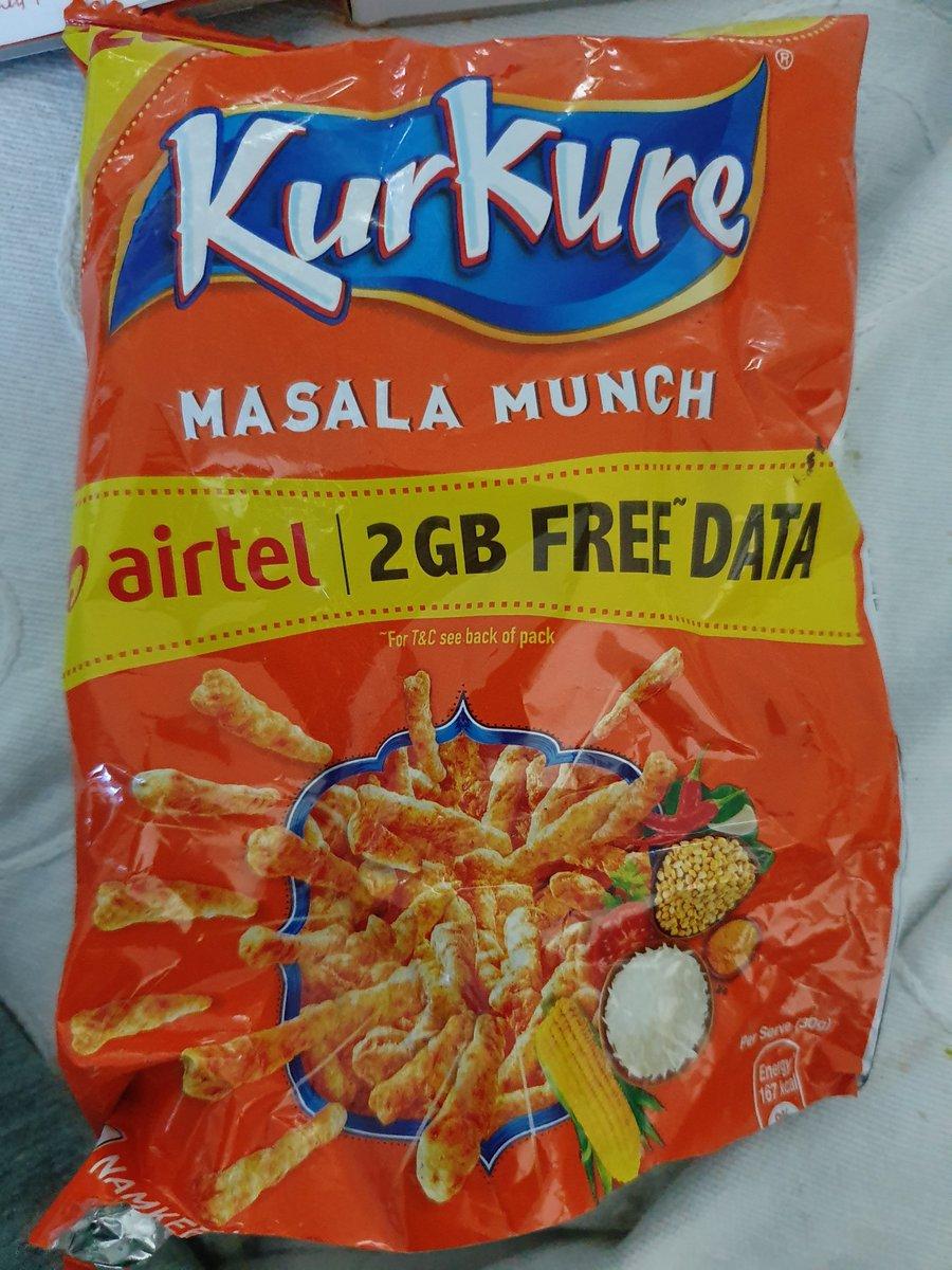 #airtel #freedata #kurkure