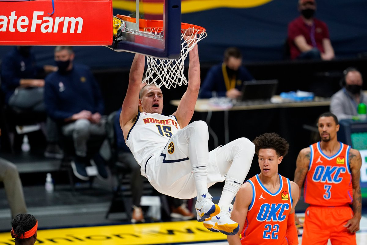 Nikola Jokic had himself a HUGE night & led the Nuggets to a victory in OT 😤  31 PTS | 10 REB | 8 AST | 61 #FDPoints