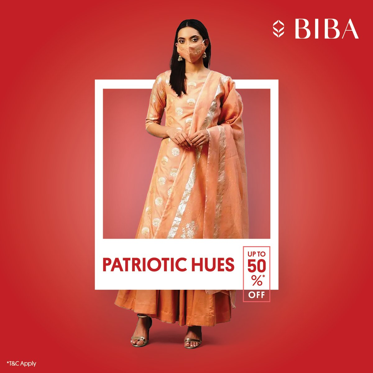 Colours of pride!Add these stunning ensembles to your wardrobe at up to 50% off*.     #EOSS #BIBA #RepublicDay #Fashion #Sale