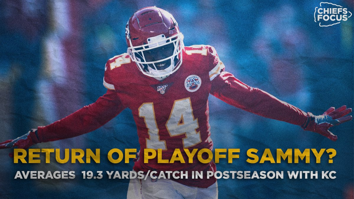 Sammy Watkins has always produced when it mattered most: the playoffs. In five KC postseason games, he's averaged nearly 2️⃣0️⃣ yards per catch 🤯  Could Playoff Sammy make his return against Buffalo? 👀