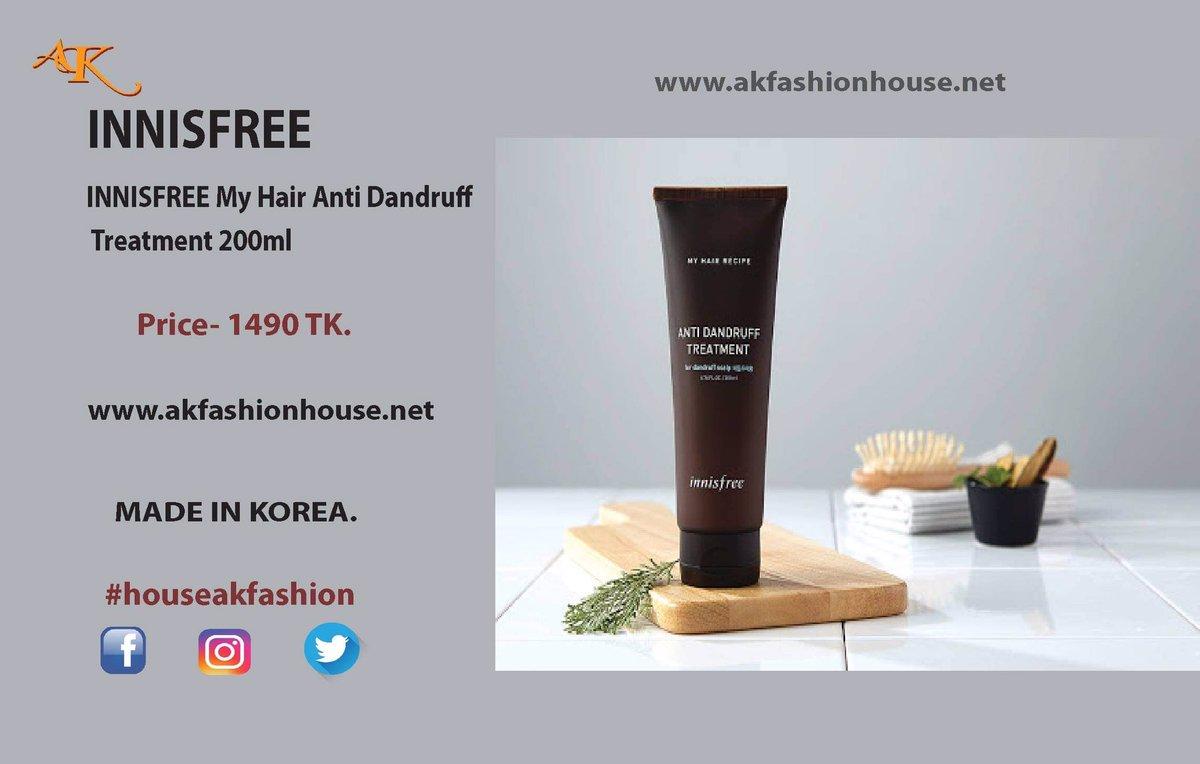 INNISFREE My Hair Anti Dandruff Treatment 200ml Made in Korea. Price- 1490 Taka Shop Now-   #INNISFREE #my #hair #anti #dandruff #treatment #200ml #beauty #fashion #bangladesh #korean #product #houseakfashion