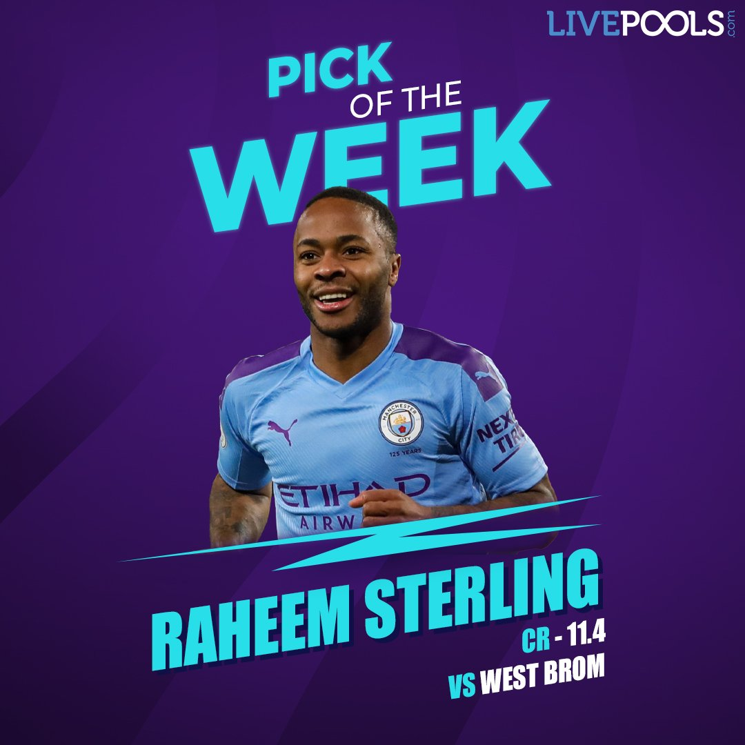 LivePools Pick Of The Week For Gameweek 20 - @sterling7  Play Fantasy Football on LivePools and win real cash! 🤑  🔗 Link :   #MayTheBestMindWin #LivePoolsIndia #FantasyFootball