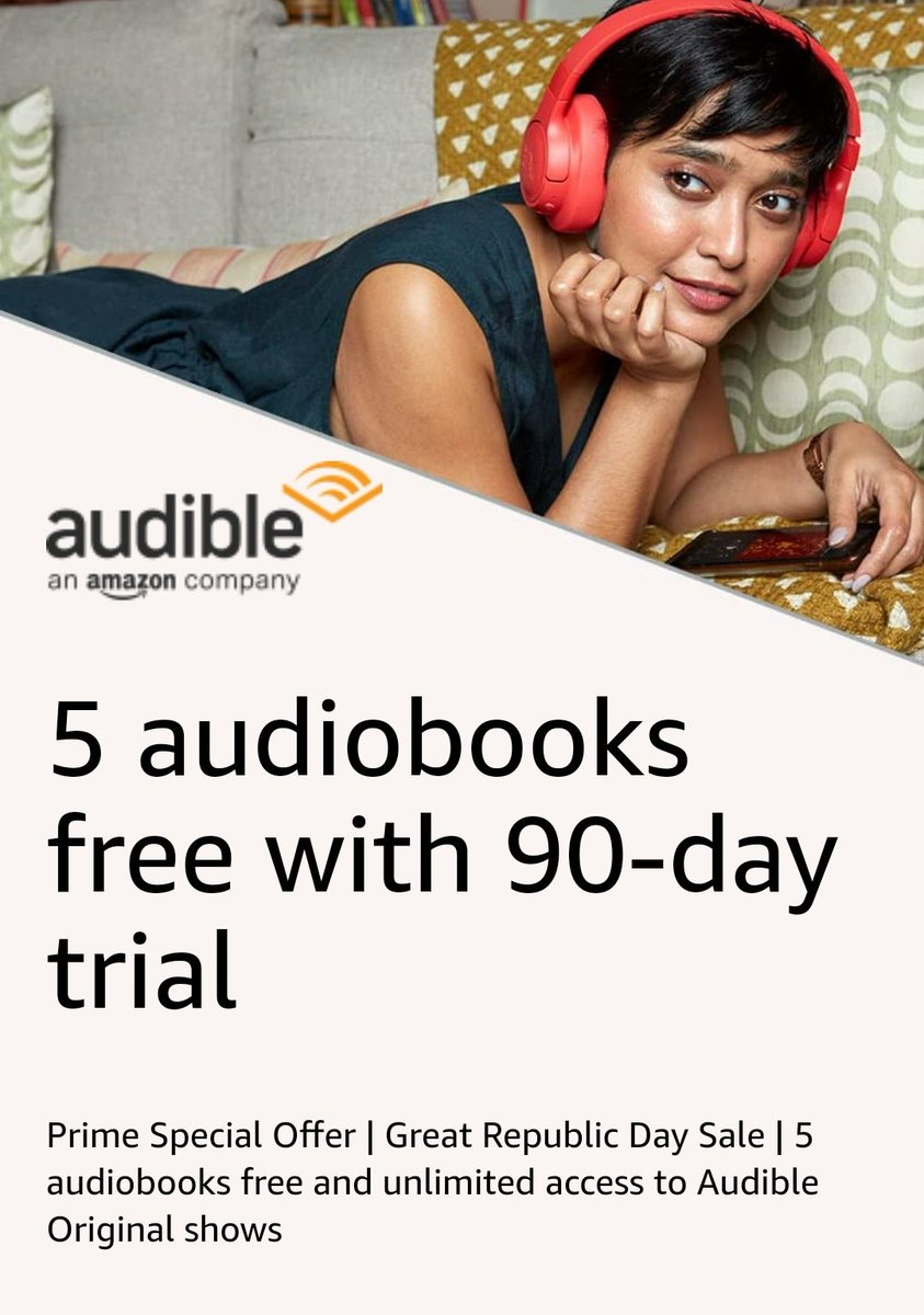 ✨ Audible Offer for Prime Members  🎁 Get 5 Audio Books for free (Even after subscription is over)   🎧 3 months free trail. (Usually it's 1 month)   🔰 Just pay ₹2 and get refund  🔥 Join now   🔥 Last day to get this offer