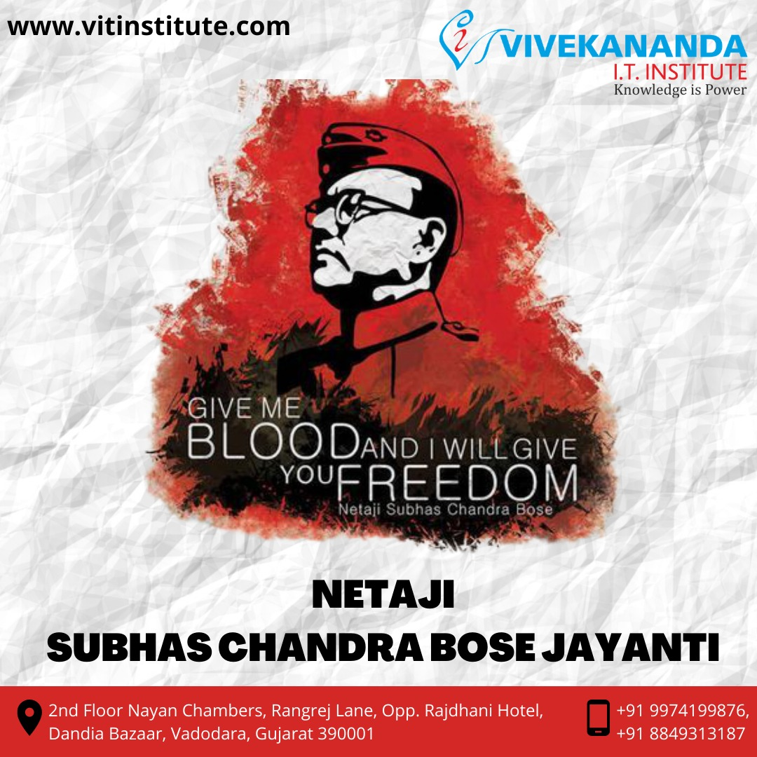 Wishing everyone on the occasion of Subhash Chandra Bose Jayanti. Today we are here because he was there to fight for us.  Let us salute the iconic freedom fighter who showed great courage to bring freedom to India  #SubhashChandraBose #legend #leader #vivekananditinstitute