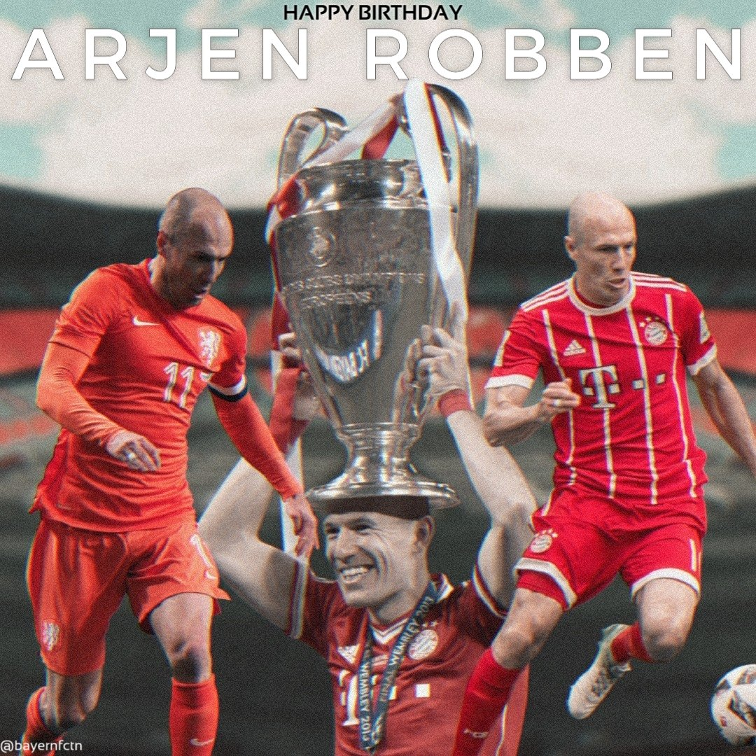 Happy 36th Birthday 🎂 @ArjenRobben! #Legend   #MiaSanMia @FCBayernEN  #FCBayern