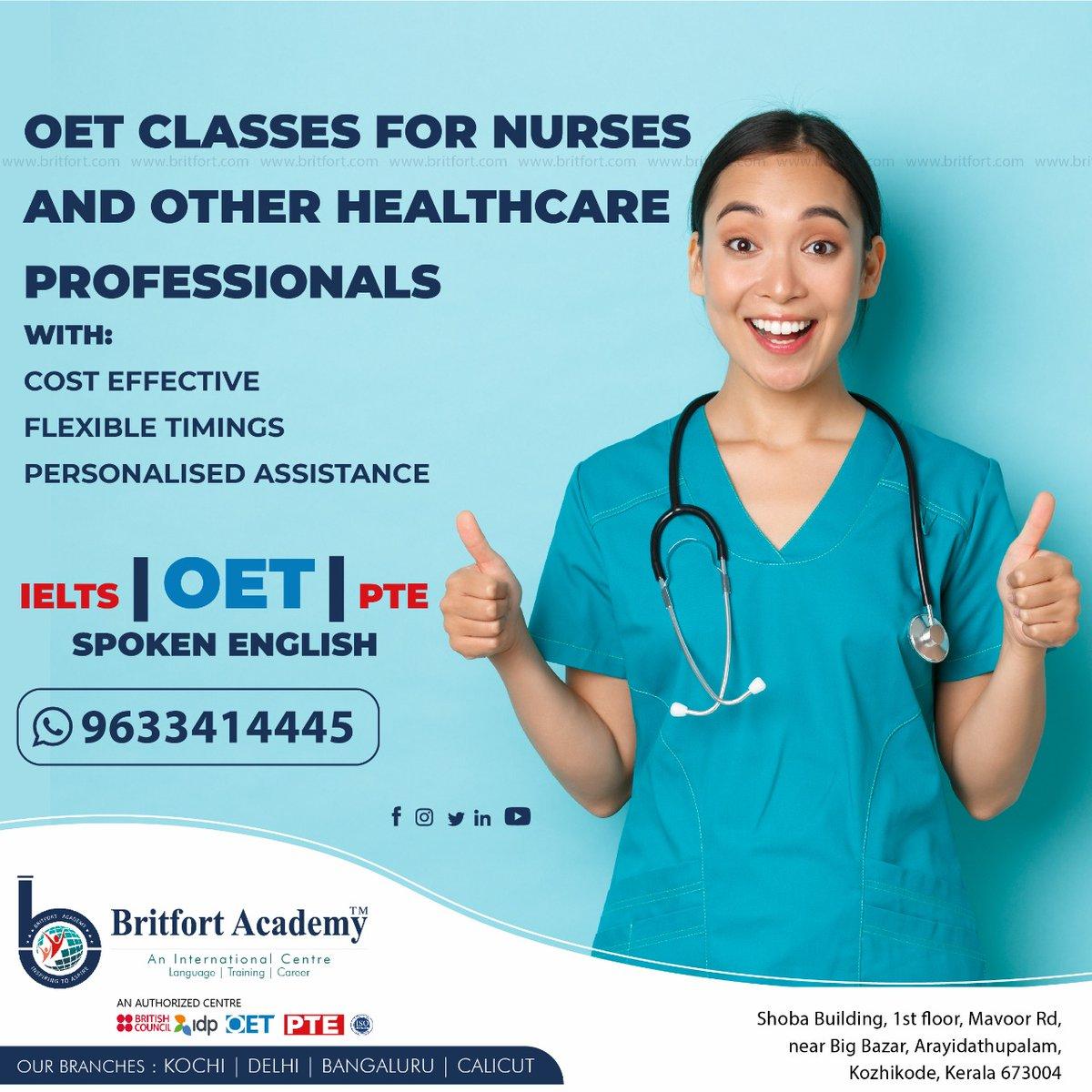 നിങ്ങൾ ഒരു മെഡിക്കൽ പ്രൊഫെഷണൽ  ആണോ ? OET ഒക്യുപേഷണൽ ഇംഗ്ലീഷ് ടെസ്റ്റാണ്, ഹെൽത്ത് കെയർ പ്രൊഫഷണലുകൾക്കുള്ള ഇന്റർനാഷണൽ ഇംഗ്ലീഷ് പ്രൊഫിഷ്യൻസി ടെസ്റ്റാണിത്.  #Nursing #nurses #healthcare #HealthcareHeroes #healthcareworkers #doctors #Medical