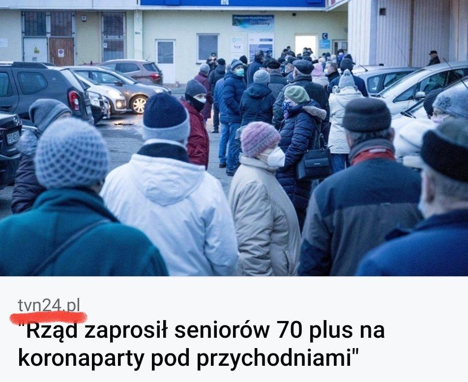 Jak źle czuć się musicie telewizyjna  kasto #TVN i pracownicy przemysłu rozrywki zaszczepieni poza kolejnością widząc seniorów oczekujących w kolejkach na rejestrację luty, marzec. AstraZene, kolejna firma która zapowiada opóźnienia wdostawach szczepionki🇪🇺#Wieszwięcej #COVID19 https://t.co/ynnHwprbZq