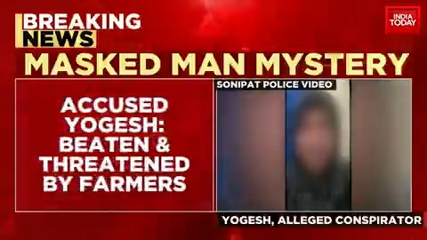 Masked man, nabbed by farmers at #SinghuBorder, now makes a u-turn. Listen in to what he said. (@aviralhimanshu)  #ITVideo