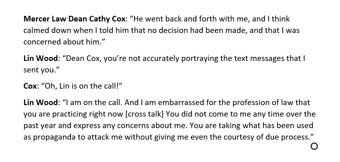 Here's Lin Wood fighting with a law student over whether a courtroom should still named after him. It's really something.