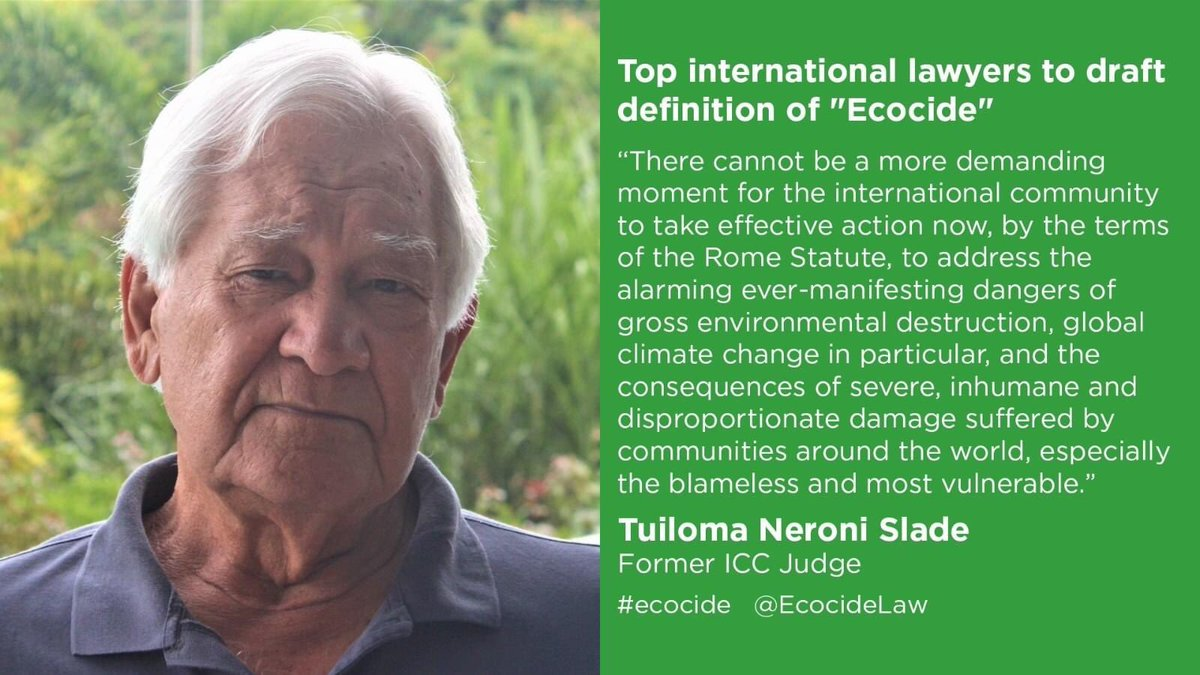 It's #Ecocide a crime against humanity