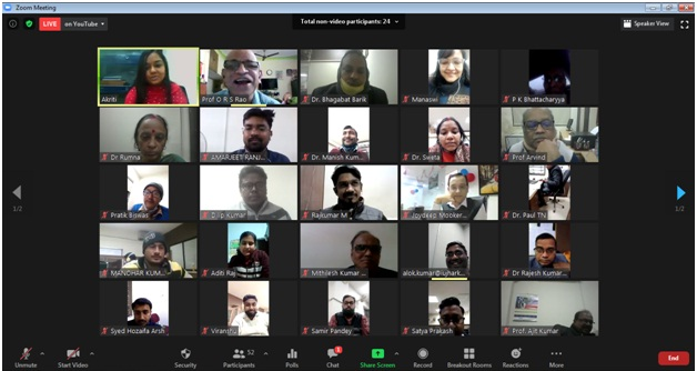 The ICFAI University Jharkhand Organized a Online Panel Discussion on
