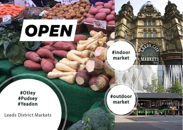 Its a frosty frosty morning & all our markets are open for all your essentials today at @LeedsMarkets #leedsmarkets #indoor #outdoor #otley #pudsey #yeadon #districts