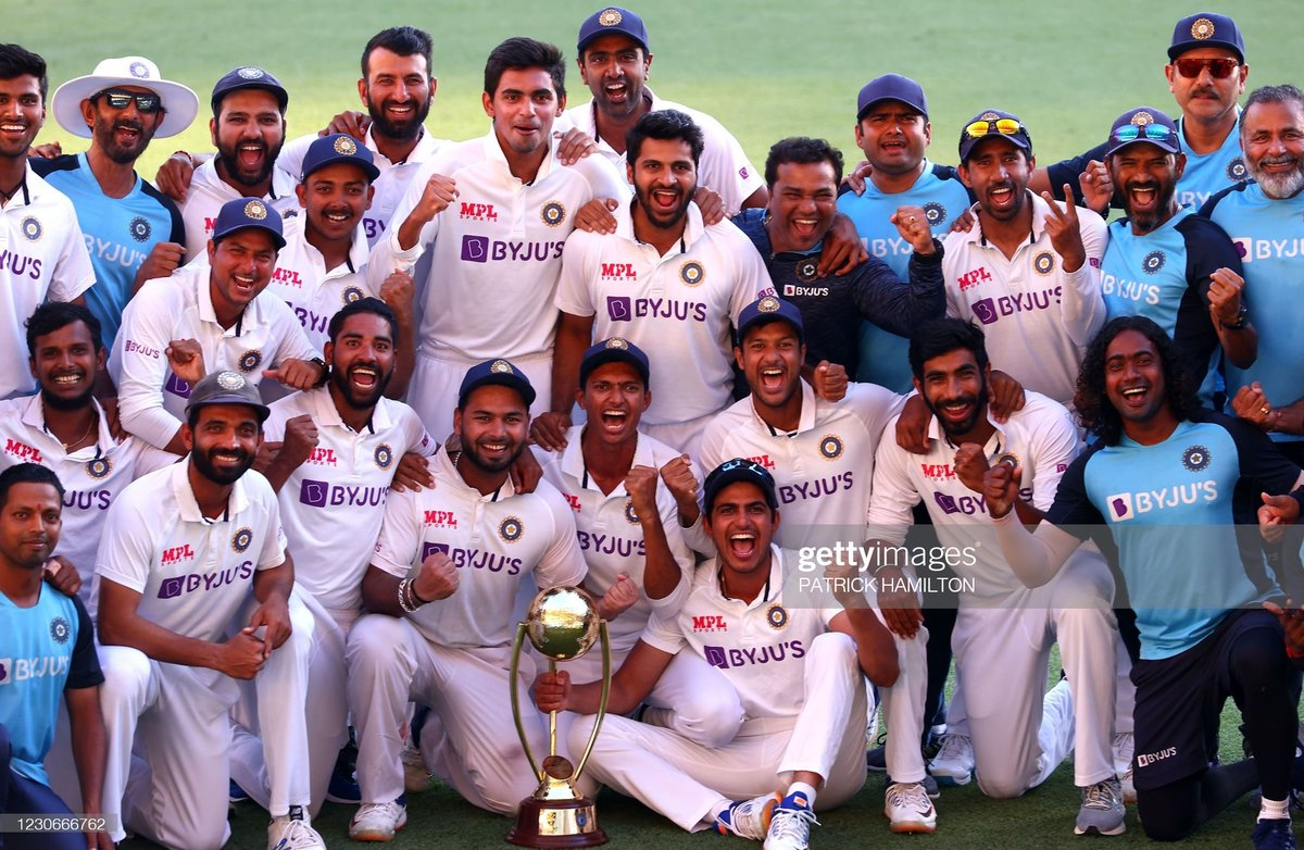 """A Saturday afternoon, post arguably 🇮🇳's greatest ever Test Series victory.  The Adelaide debacle, we yet believed in this team to make a comeback against all """"4-0"""" odds :)  Today, we need to thank our team management & our players to let us have this day in our lives❤  Thread⬇️"""