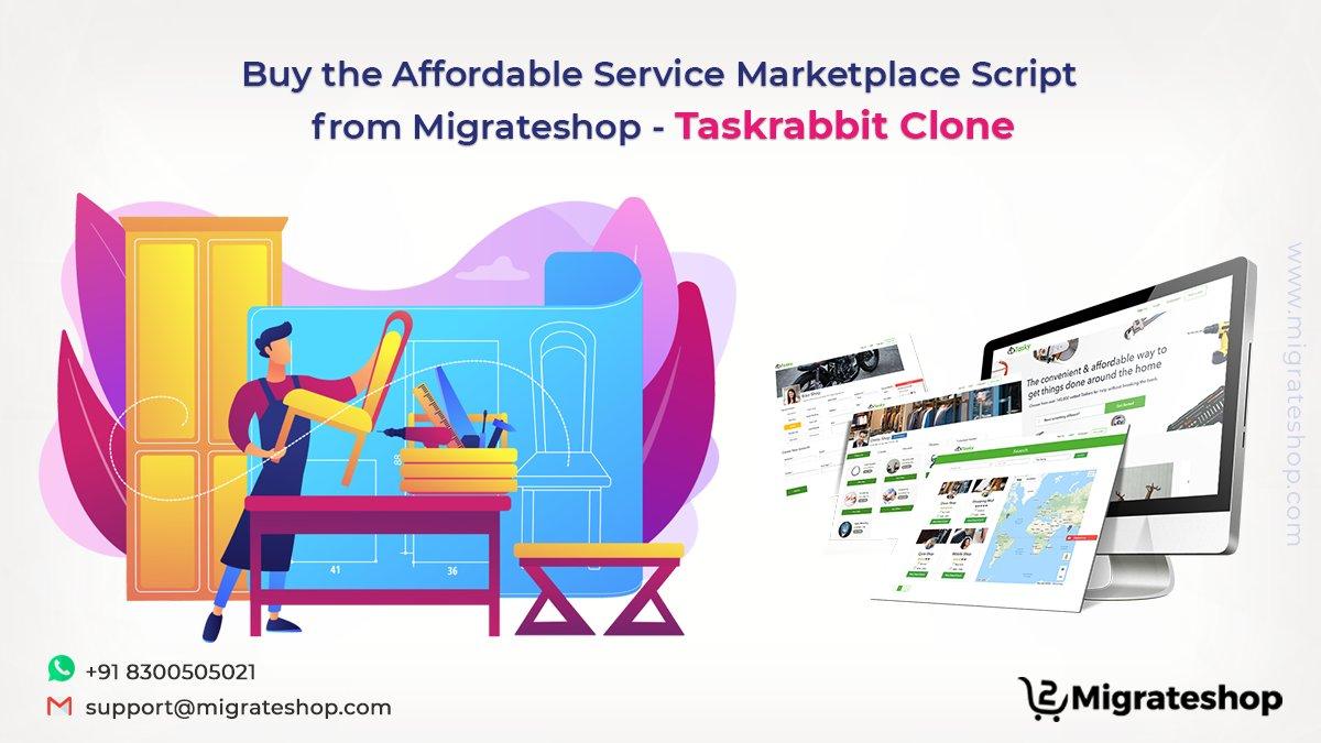 Buy the Affordable Service Marketplace Script from Migrateshop – Taskrabbit Clone  Read More: https://t.co/RiSFV0G7sB  #servicemarketplace #OnDemand #Services #migrateshop #clonescripts #startups #Entrepreneurship #business #taskrabbitclone #Trending https://t.co/NGPdnwbqtu