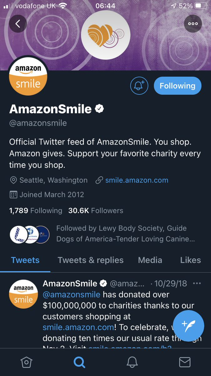 I didn't know about this. Does Amazon keep it deliberately quiet? #Amazon #AmazonSmile #Charity