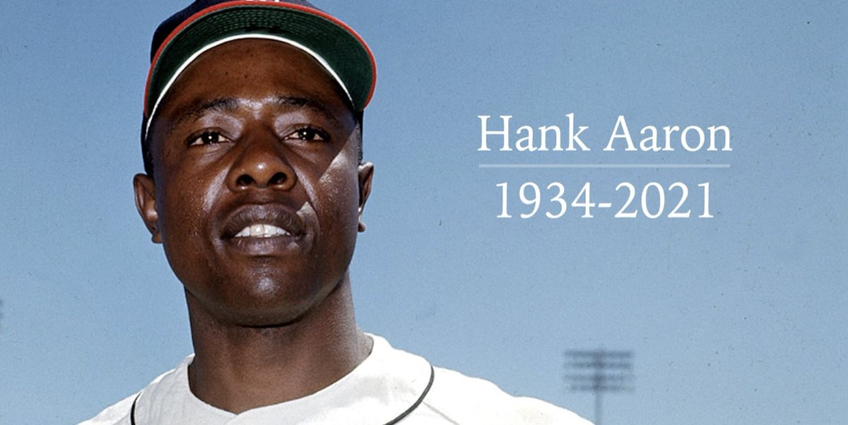 The legend Hank Aaron dies at 86. He finished his career with 755 home runs, 3,771 hits, 2,297 RBI's, avg .305. #baseball #HankAaron #Legend #HallOfFame