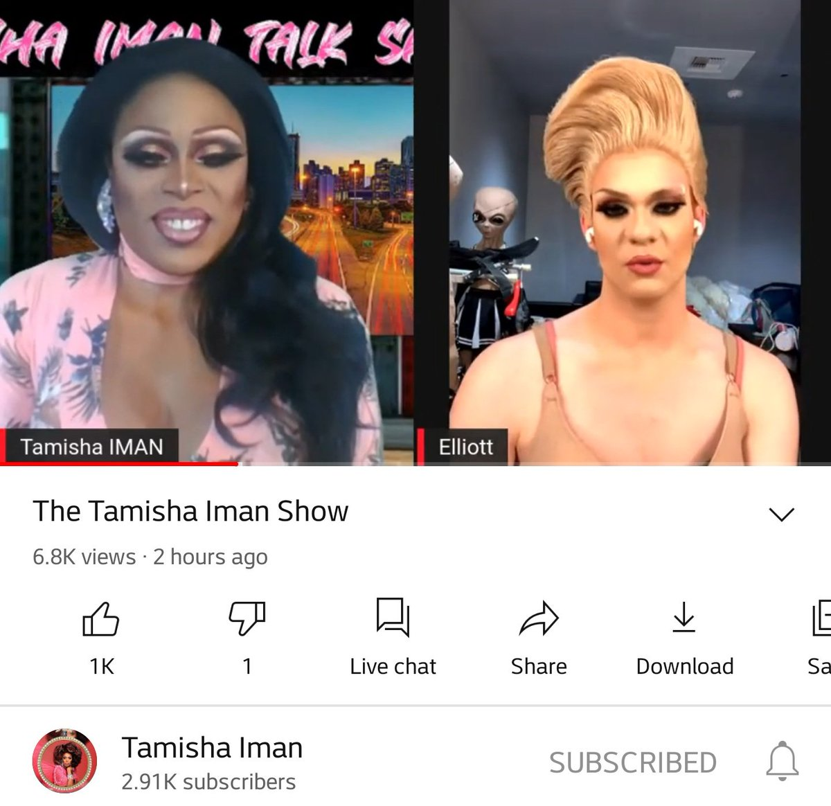 The wait is over. Tamisha has her own show now. Nothing but success for Mama Tamisha  #DragRace