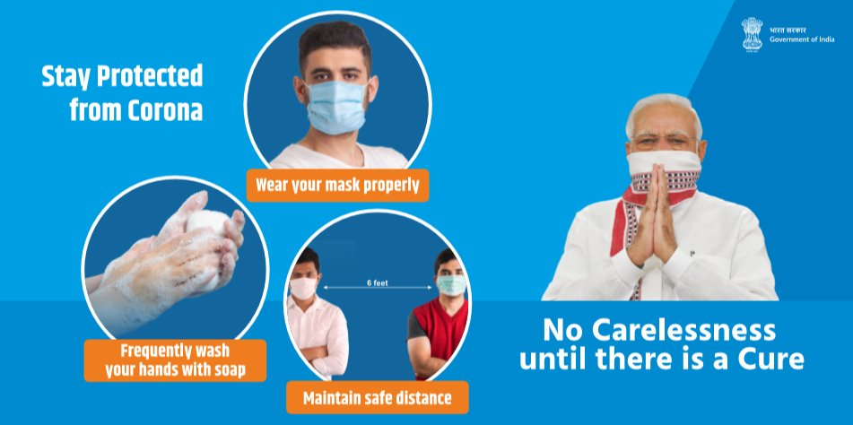 #COVID19 | To #staysafe from #coronavirus, make sure to always:     → Wear your #mask properly 😷 → Frequently wash your hands with soap 👐 → Maintain safe distance ↔️   #Unite2FightCorona