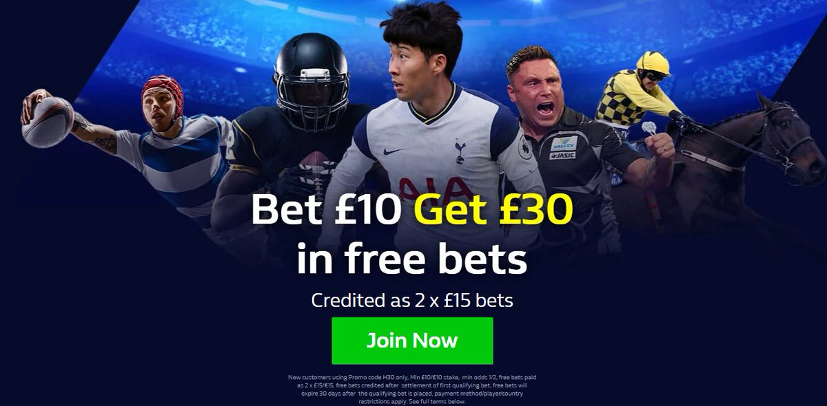 WilliamHill  🔵New Customers Offer using Promo Code P30 🔵Bet £10 Get £30 In free bets Credited as 2 x £15 bets 🔵Get Offer Below 🔸  begambleaware 18+ T&Cs Apply #Betting #FPL #Bundesliga #SerieA #LaLiga #Bet #EFL1 #premierleague #FACup #Ligue1 #UFC257,3