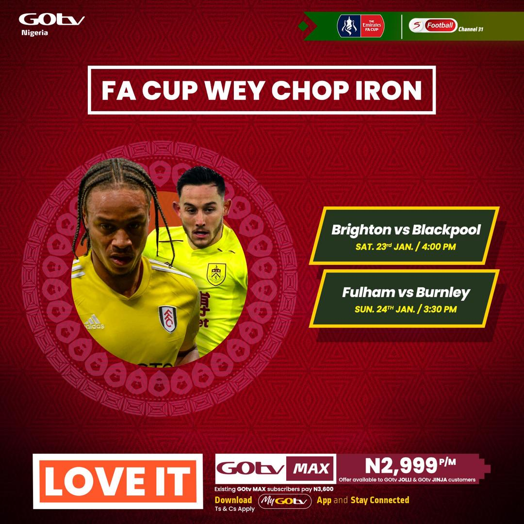 Another weekend for #FACup wey chop iron!⚽🤪  Reconnect now! #FootballWorthWatching