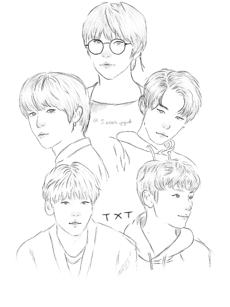 Happy weekend 💛 . . #TXT #yeonjun #taehyun #beomgyu #soobin #hueningkai #Fanart #TXTfanart #artistsontwitter #artidn #art #sketch