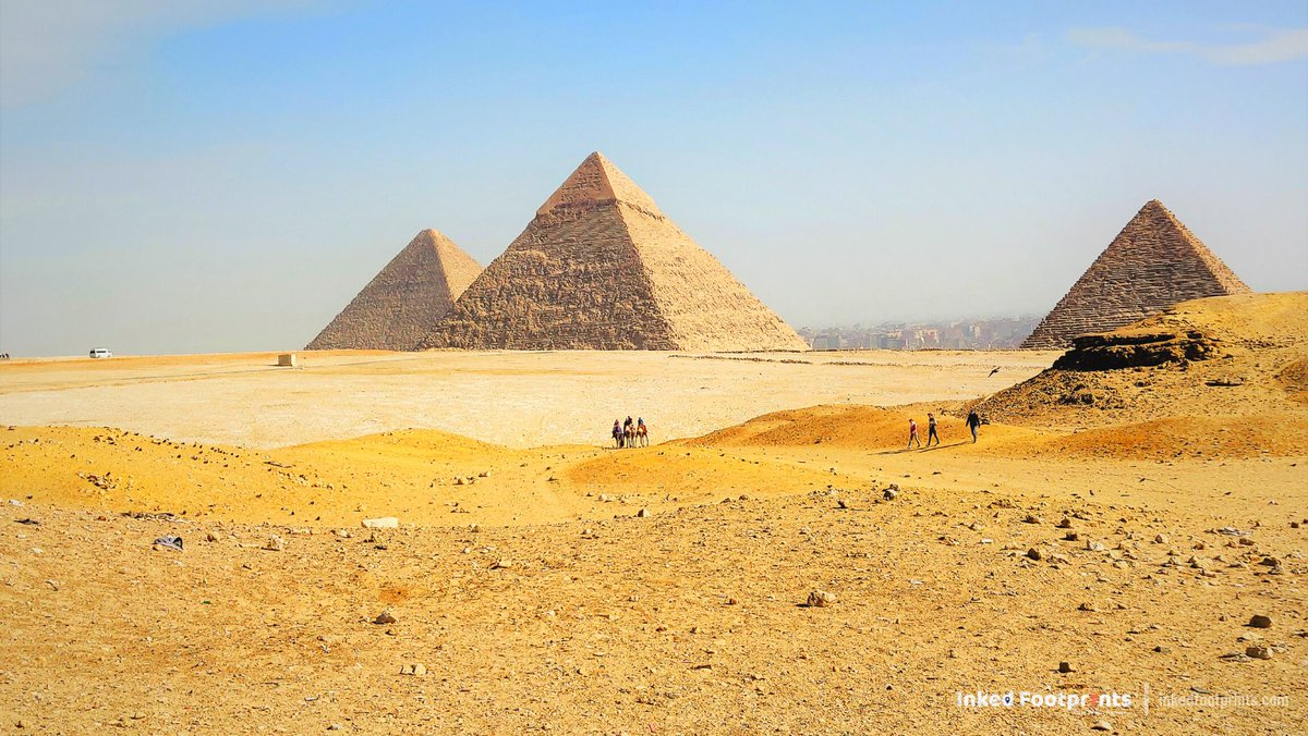 Pyramids of Giza are massive and treat to an eye. A leisure camel ride around the Pyramids is the best way to explore & take some wonderful shots🐫🏜️ @ExperienceEgypt @InkedFootprint  #VisitEgypt #Pyramids #Cairo #InkedFootprints #TravelAdvisor #Photography #TravelBlogger #Travel https://t.co/coDXwbrXKU