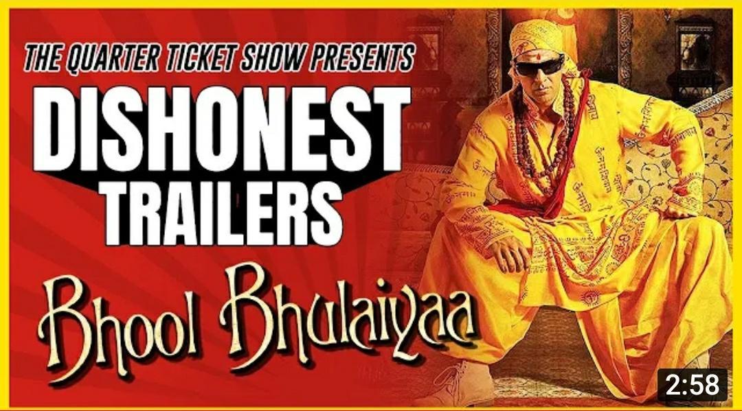@Magnificent_Bss @akshaykumar What if bhool bhulyia was a karan johar Romance  Bhoo bhulyia - a dishonest trailer check it out here