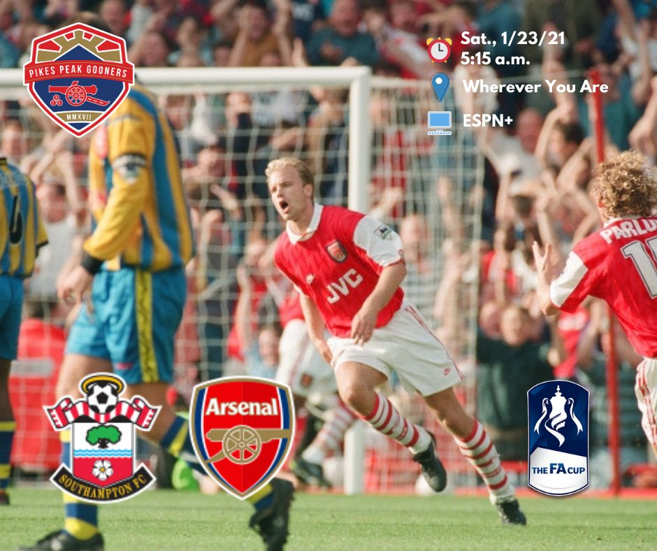 What did she wear?!? 🎗️🎗️🎗️  We're back on, and it's time to defend the Football Association Challenge Cup.  🆚 @SouthamptonFC  🏟 St. Mary's Stadium ⚽️⏰: 5:15 a.m.  Let's do this!!! COYG!  #SOUARS #Arsenal #TheArsenal #AFC #COYG #UTA #FACup #ArsenalAmerica #EmiratesFACup