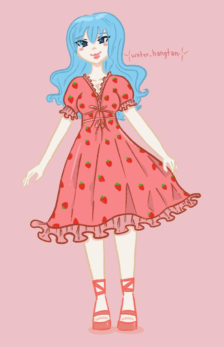 Strawberry dress Juvia ♥️🍓 #JuviaLockser #FairyTail #Fanart
