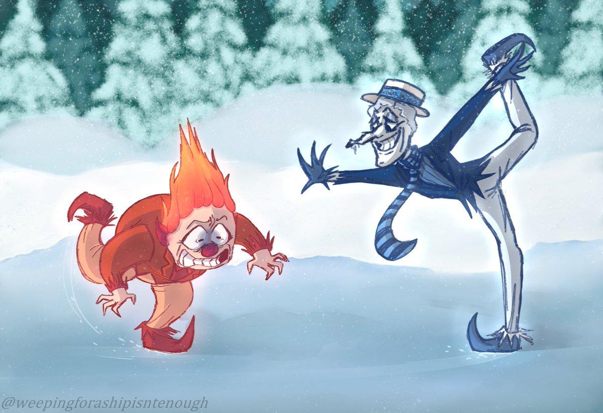 January's prompt is✨Snow✨#snowmiser #heatmiser #miserbrothers #rankinbass #fanart