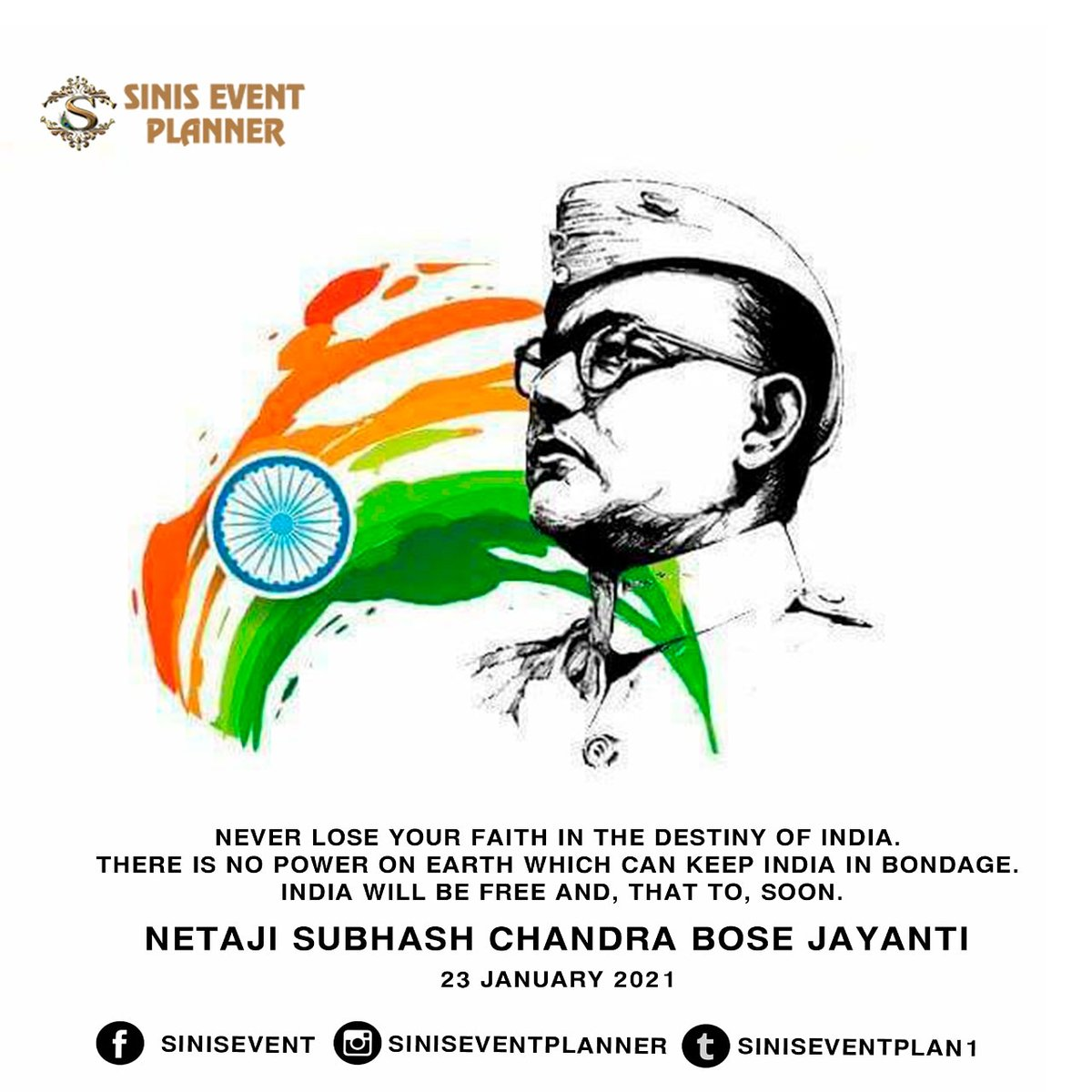 Born on 23rd January 1897, Bose's defiant patriotism and brilliant strategizing earned him the honour of an hero in India. Today, on his birth anniversary, let's pay him our respects 🙏🏽 #netajisubashchandrabose #birthanniversary #hero #fighter