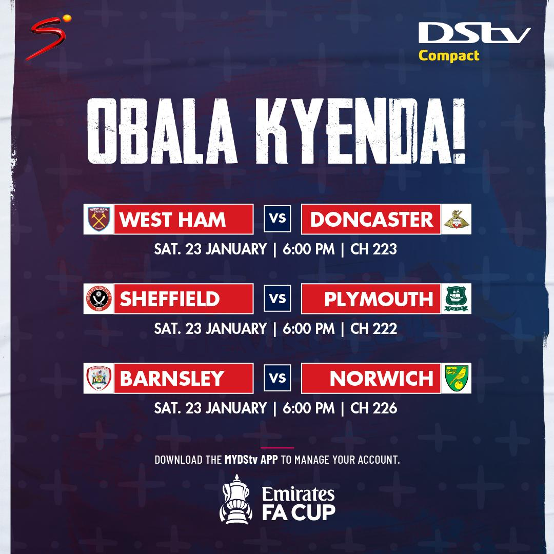 We've got more action from the #FACup lined up. StayConnected and enjoy the games live. #WorldsBestFootball