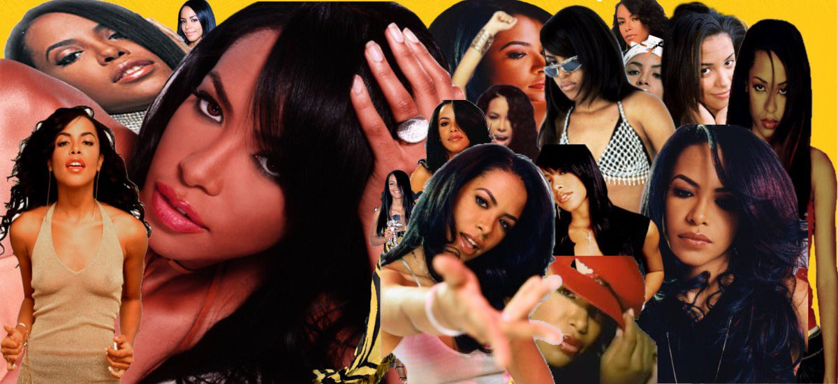 """I'm trying different things this year here is my first attempt at an collage of """"Baby Girl """" A A L I Y A H #aaliyah #fanart #explore #trend #artist #stan #90s #tommyhilfiger #i #miss #u"""