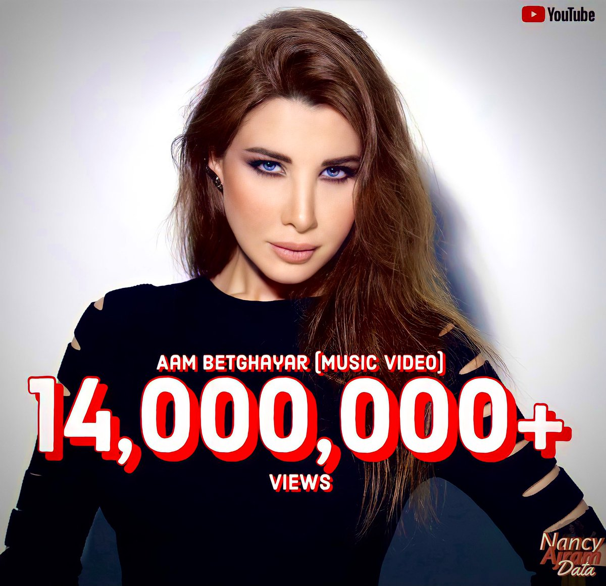 """.@NancyAjram's music video for her song """"Aam Betghayar"""" has now surpassed 14 MILLION views on @YouTube.  The song and video were created for the Arabic TV Series """"Julia.""""#نانسي_عجرم"""