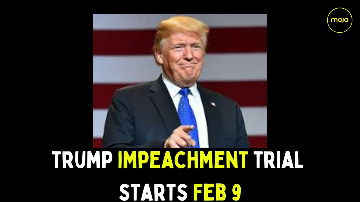 An agreement was formed by #Senate Majority and Minority Leaders to follow a standoff over the timing of the trial, which could bar #Trump permanently from holding public office. The impeachment trial will start from Feb 9.