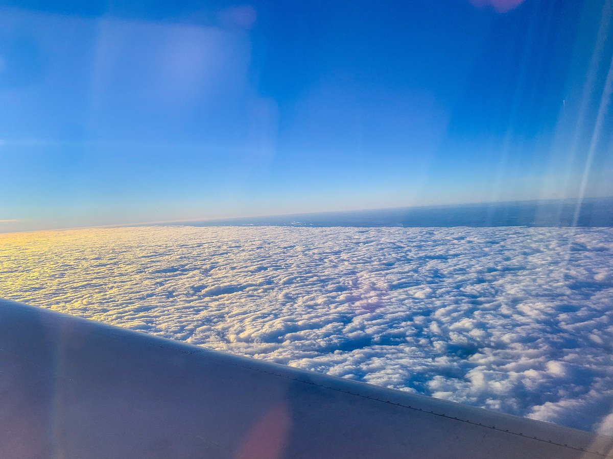 View from the airplane window ✈️  #airplane #plane #travel #travelling #photography #photos #airplanewindow #winter #iphone #apple #shotoniphone #lightroom #lightroomcc #photoediting #iPadPro #adobe #bluesky #sun #clouds