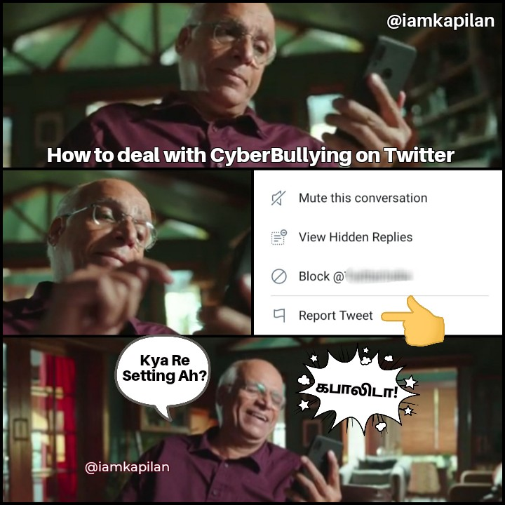 Uncle லைப் பார்த்ததும் செஞ்சே ஆகனும்னு முடிவெடுத்துட்டன்... அப்படி ஒரு Emotion முகத்தில.. 😎  Thank you @airtelindia  #Airtel #SafePay #Meme #Twitter #CyberBullying https://t.co/TaJIucvLnh