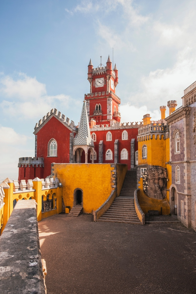 Happy Saturday!  Sintra is a resort town in Sintra Mountains foothills, famous for its forests full of pastel-colored villas & palaces  📍 Sintra 📸 by Julia Solonina on Unsplash  #tourinspires #travel #inspiration #sintra #portugal  Plan your trip here: https://t.co/qOygfenCfw https://t.co/r4Ki4eXuwq
