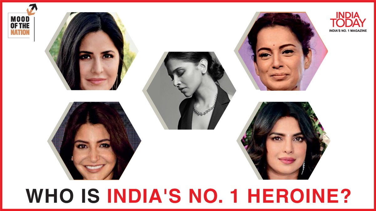 Who is India's no. 1 heroine?  To find out, click  to download the Mood Of The Nation special issue of the India Today magazine #Magazinepromo